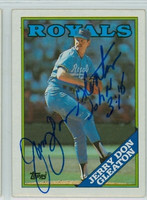 Jerry Don Gleaton AUTOGRAPH 1988 Topps Royals 