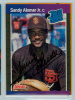 Sandy Alomar Jr. AUTOGRAPH 1989 Donruss Padres 