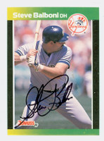 Steve Balboni AUTOGRAPH 1989 Donruss Yankees Baseball's Best 