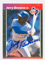 Jerry Browne AUTOGRAPH 1989 Donruss Rangers 