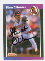 Stu Cliburn AUTOGRAPH 1989 Donruss Angels 