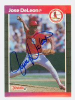 Jose DeLeon AUTOGRAPH 1989 Donruss Cardinals 