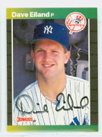 Dave Eiland AUTOGRAPH 1989 Donruss Yankees 