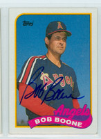 Bob Boone AUTOGRAPH 1989 Topps Angels 