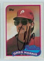 Greg Harris AUTOGRAPH 1989 Topps Phillies 