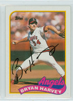 Bryan Harvey AUTOGRAPH 1989 Topps Angels 