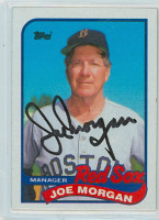Joe Morgan AUTOGRAPH 1989 Topps Red Sox 