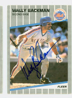 Wally Backman AUTOGRAPH 1989 Fleer Mets 