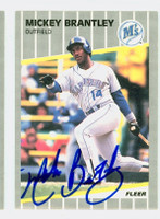 Mickey Brantley AUTOGRAPH 1989 Fleer Mariners 