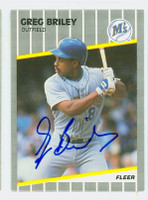 Greg Briley AUTOGRAPH 1989 Fleer UPDATE Mariners 
