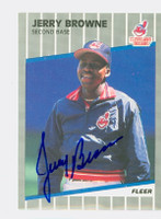 Jerry Browne AUTOGRAPH 1989 Fleer UPDATE Indians 