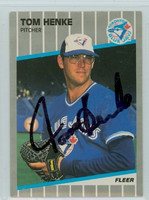 Tom Henke AUTOGRAPH 1989 Fleer Blue Jays 