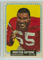 1964 Topps Football 2 Houston Antwine ROOKIE Boston Patriots Good to Very Good