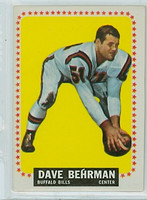 1964 Topps Football 24 Dave Behrman Buffalo Bills Excellent