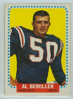 1964 Topps Football 25 Al Bemiller Buffalo Bills Fair to Poor
