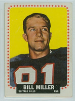 1964 Topps Football 32 Bill Miller Buffalo Bills Very Good to Excellent
