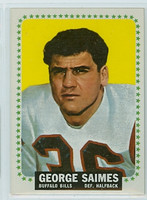 1964 Topps Football 36 George Saimes ROOKIE Buffalo Bills Near-Mint