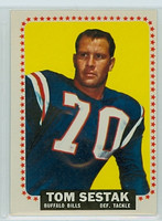 1964 Topps Football 37 Tom Sestak Buffalo Bills Excellent