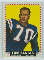 1964 Topps Football 37 Tom Sestak Buffalo Bills Near-Mint