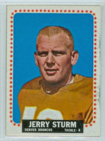 1964 Topps Football 63 Jerry Strum Denver Broncos Near-Mint