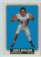 1964 Topps Football 66 Scott Appleton ROOKIE Houston Oilers Excellent