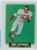 1964 Topps Football 71 Gary Cutsinger Single Print Houston Oilers Excellent to Mint