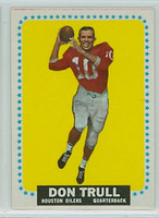 1964 Topps Football 87 Don Trull ROOKIE Houston Oilers Excellent