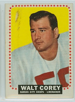 1964 Topps Football 95 Walt Corey ROOKIE Kansas City Chiefs Good to Very Good