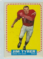 1964 Topps Football 108 Jim Tyrer ROOKIE Kansas City Chiefs Very Good