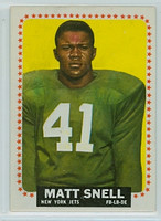 1964 Topps Football 125 Matt Snell ROOKIE New York Jets Near-Mint