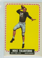 1964 Topps Football 126 Mike Taliaferro New York Jets Good to Very Good