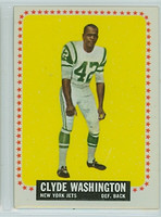 1964 Topps Football 129 Clyde Washington New York Jets Very Good