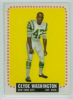 1964 Topps Football 129 Clyde Washington New York Jets Near-Mint