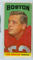 1965 Topps Football 1 Tom Addison Single Print Boston Patriots Excellent