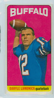 1965 Topps Football 36 Daryle Lamonica Single Print Buffalo Bills Very Good to Excellent