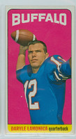 1965 Topps Football 36 Daryle Lamonica Single Print Buffalo Bills Excellent to Mint