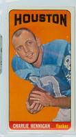 1965 Topps Football 78 Charlie Hennigan Single Print Houston Oilers Excellent to Excellent Plus