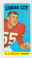 1965 Topps Football 103 EJ Holub Single Print Kansas City Chiefs Excellent to Excellent Plus