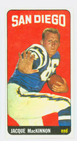 1965 Topps Football 167 Jacques MacKinnon San Diego Chargers Excellent to Mint