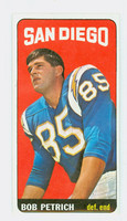 1965 Topps Football 170 Bob Petrich San Diego Chargers Excellent to Mint