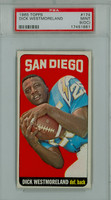 1965 Topps Football 174 Dick Westmoreland San Diego Chargers PSA 9 OC