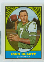 1967 Topps Football 1 John Huarte Boston Patriots Excellent to Mint