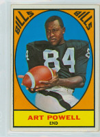 1967 Topps Football 17 Art Powell Buffalo Bills Very Good to Excellent