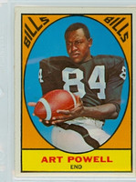 1967 Topps Football 17 Art Powell Buffalo Bills Excellent