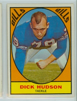 1967 Topps Football 22 Dick Hudson Buffalo Bills Excellent