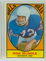 1967 Topps Football 25 Rob McDole Buffalo Bills Excellent to Mint