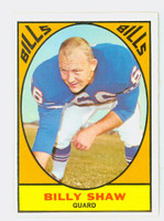 1967 Topps Football 28 Billy Shaw Buffalo Bills Excellent to Excellent Plus