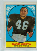 1967 Topps Football 33 Dave Costa Denver Broncos Excellent to Mint