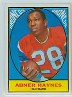 1967 Topps Football 35 Abner Haynes Denver Broncos Excellent