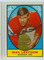 1967 Topps Football 40 Max Leetzow Denver Broncos Excellent to Excellent Plus